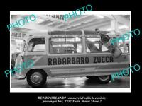OLD LARGE HISTORIC PHOTO OF 1952 RENZO ORLANDI BUS TURIN MOTOR SHOW DISPLAY 3