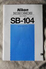 Nikon Nikonos Sb-104 Instruction Manual