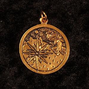 Sternzeichen ₪ Anhänger Sidhe ₪ 17.Mai-8.Juni ₪ Silber, vergoldet