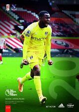 Fulham v Crystal Palace 2020/21 brand new football programme