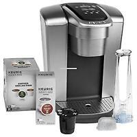 NEW Keurig K-Elite C Single Serve Coffee Maker Brushed Silver with 15 K-Cups