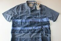 Tommy Bahama Camp Shirt MLB Embroidered Island Stadium Bluefish Silk Large L