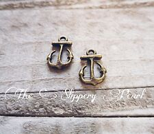Anchor Charms Anchor Pendant Bronze Charms Nautical Charms Ocean Charms 10pc