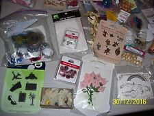BIG LOT OF ASSORTED CRAFT SUPPLIES, CRAFTS, CRAFTING, YARN, CHARMS, BRADS, BEADS