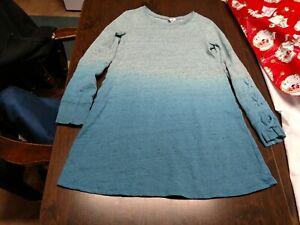 Justice Blue Designed Long Sleeved Dress Size Girl's 10