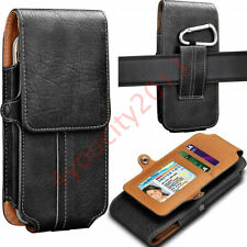 Mens Leather Waist Bag Holster Wallet Case Card Clip Holder Pouch For Cell Phone