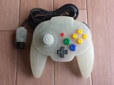 Nintendo 64 Hori Pad Mini Controller White semi-clear Tested&working