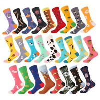 NEW Mens Cotton Socks Novelty Colourful Animal Fruit Dog Funny Casual Dress Sock