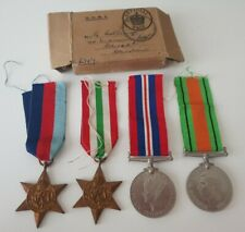 WW2 Italy Star Medal Group & Box of Issue to MR G Collinge, Cheadle, Cheshire