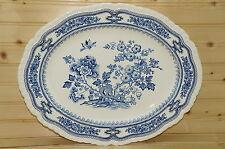 "Mason's Manchu Blue Large Oval Serving Platter, 15 3/8"" x 12 1/4"""