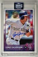2020 Archives Encased 2015 Topps Series 1 Auto #91 Corey Dickerson 18/22