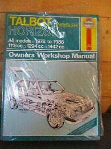 473 Haynes Manual Talbot Horizon 1118cc 1294cc 1442cc All Models 1978 - 1986