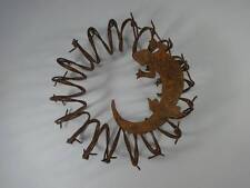 Wire Lizard Rustic South West Western Gecko Wall Hanging Metal  Barb Wire Style