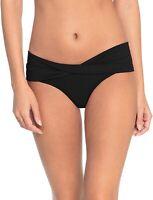 Robin Piccone 260935 Women's Ava Twist Bikini Bottom Swimwear Black Size Small
