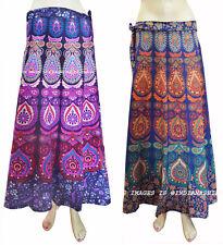 Set of 2 Indian Women Ethnic Floral Rapron CottonPrinted LongSkirt Warp Around0W