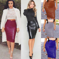 Fashion Women High Waist Pencil Dresses Bodycon Midi Skirt Party Dress