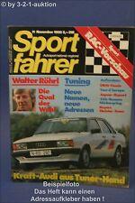 Sportfahrer 11/80 Audi 80 Mazda 323 Morgan Motor Compan