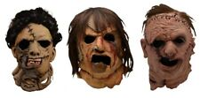 The Texas Chainsaw Massacre - Leatherface Adult Latex Deluxe SET OF 3 Masks NEW