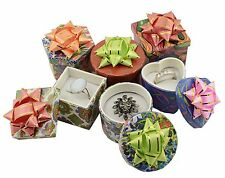 48 x Hat Ring / Stud Earring Boxes - Assorted Colours Shapes - Ring Gift Boxes
