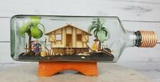 Vintage Philippines Hut Scene in a Bottle