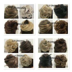 Curly & Straight Messy Hair Scrunchies Synthetic Elastic Wrap around Cover Piece