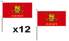 British Army Waving Hand Flag 12 Pack Decoration Red Military Soldier UK