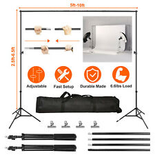 10Ft Adjustable Photography Background Support Stand Kit Heavy Duty With Case Us