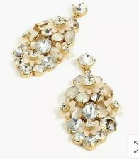 Out! New$65 Crystal With Bag! J.Crew Botanical Cluster Statement Earrings! Sold