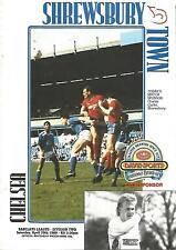 Football Programme - Shrewsbury Town v Chelsea - Div 2 - 29/4/1989