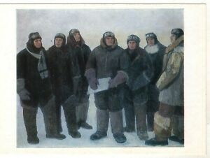 HEROES Arctic Explorer Steamship Chelyuskin Polar Vintage Old Russian Postcard