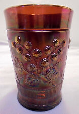 "Northwood Carnival Glass Raseberry Tumbler Amethyst 4"" Tall 3"" Across Top Vintag"