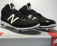 New Balance Mens Size 12.5 Mid Metal Baseball Cleats Black Gold Gray