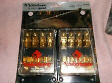 OLD SCHOOL ROCKFORD FOSGATE  FUSE HOLDER!!   RARE SET OF TWO!!  NEW!! GOLD!!