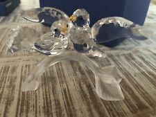 SWAROVSKI CRYSTAL TURTLEDOVES FIGURINE # 0657378 BIRDS