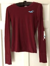 Burgundy Hollister Ladies Top. XS