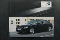 BMW Serie 7 E65 E66 Prospecto Indicador Folleto Catálogo Individual Tapa Dura