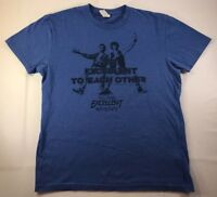 Bill & Ted's Excellent Adventure Be Excellent To Each Other T-shirt Size M Blue