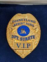RARE Disneyland Paris Security VIP Wallet Badge Disney Cast Employee Uniform