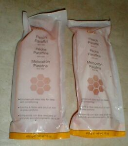 Lot-2 GiGi Peach Paraffin Bath Wax w/Aloe Vera 16oz Sealed Package Salon Quality