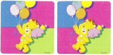 2 x Square Stickers ~ Dusted Glitter Show Day Care Bears Party Favours Loot ~