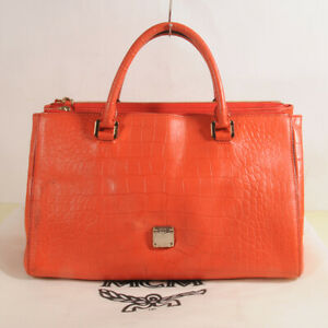 Authentic MCM Leather Shoulder Bag + Dust Bag