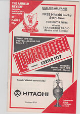 Programma / Programme Liverpool v Exeter City FC 30-10-1979 Football league Cup