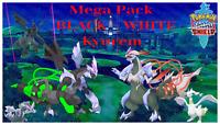 Kyurem Black & White✨Shiny✨ BR 6IV Zekrom Reshiram Pack Pokemon Sword/Shield