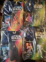 Star Wars Luke Skywalker 1996 Kenner/Hasbro, 4 Action Figure Lot, READ!!!