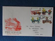 Primer día cubierta-servicio de bomberos-Estampado - 24/4/74 Harlow