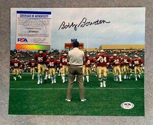 FLORIDA STATE SEMINOLES- BOBBY BOWDEN SIGNED 8x10 PORTRAIT PHOTO PSA/DNA AI45651