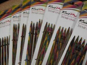38 SIZES KnitPro Symfonie Double Pointed Needles Knitting Colourful Wood