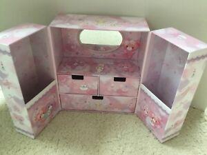 Rare Sanrio Bonbon ribbon organizer jewelry box dresser hello kitty
