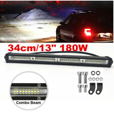 1pc 13'' 180W LED Work Light Bar Offroad Lamp Spot&Flood Combo Free Accessories