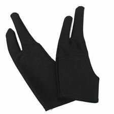 2Pcs Two Finger Anti-fouling Glove Drawing & Pen Graphic Tablet Pad For Artist